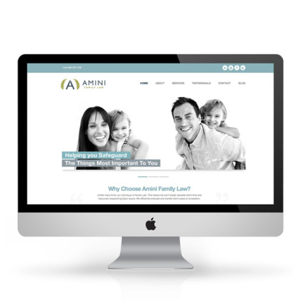 Branding, Website and Printing for Amini Family Law